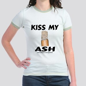 Kiss My Ash Cigar Jr. Ringer T-Shirt