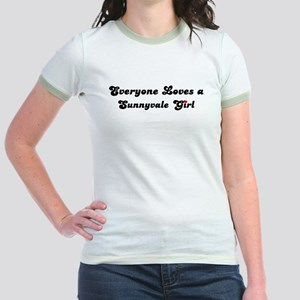 Sunnyvale girl Jr. Ringer T-Shirt