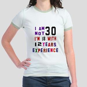 30 Birthday Designs Jr. Ringer T-Shirt