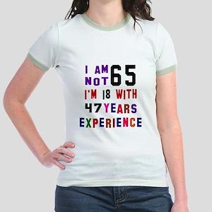 65 Birthday Designs Jr. Ringer T-Shirt