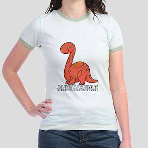 Auntasaurus Jr. Ringer T-Shirt