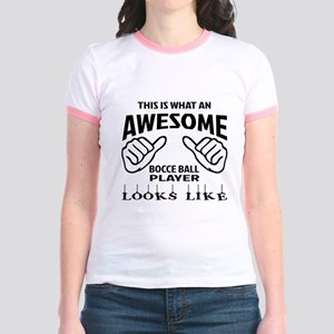 This is what an awesome Bocce b Jr. Ringer T-Shirt