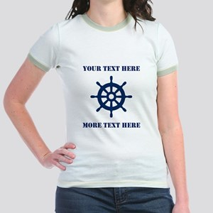 Custom nautical ship wheel T-Shirt