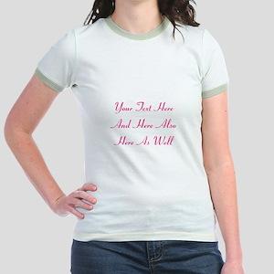 Customizable Personalized Text Jr. Ringer T-Shirt