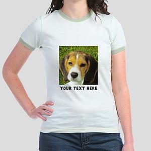 Dog Photo Personalized Jr. Ringer T-Shirt