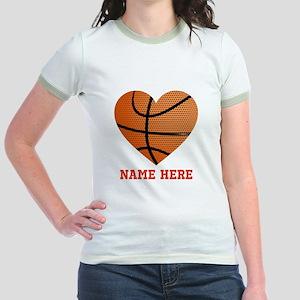 Basketball Love Personalized Jr. Ringer T-Shirt