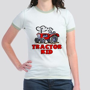 Red Tractor Kid Jr. Ringer T-Shirt