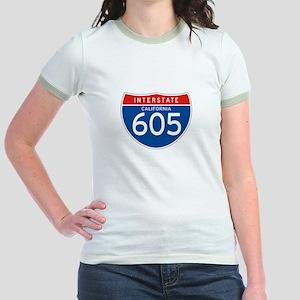 Interstate 605 - CA Jr. Ringer T-Shirt
