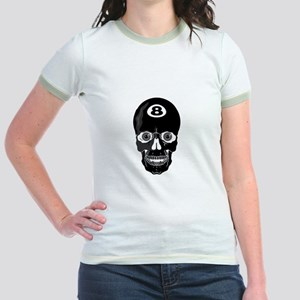 Eight Ball (8 Ball) Skull Jr. Ringer T-Shirt