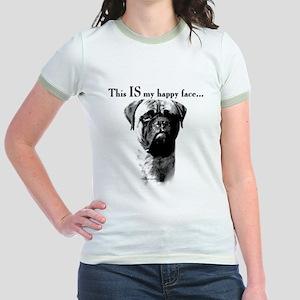 Bullmastiff Happy Face Jr. Ringer T-Shirt