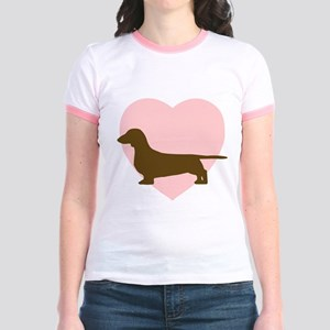 Dachshund Heart Jr. Ringer T-Shirt
