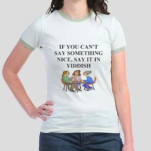 jewish yiddish wisdom Jr. Ringer T-Shirt