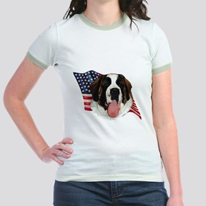 Saint Bernard Flag Jr. Ringer T-Shirt
