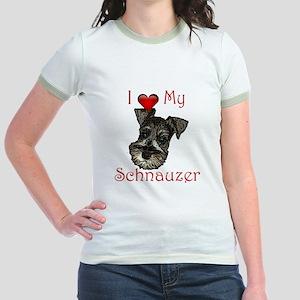 I love my Schnauzer Pup Jr. Ringer T-Shirt
