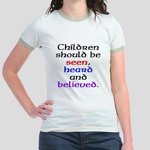 Seen, heard & believed Jr. Ringer T-Shirt