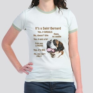 Saint Bernard FAQ Jr. Ringer T-Shirt