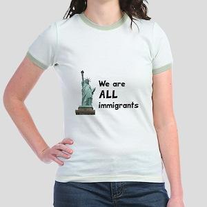 We're all immigrants Jr. Ringer T-Shirt