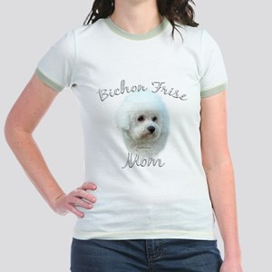 Bichon Mom2 Jr. Ringer T-Shirt