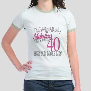 40th Birthday Gifts Jr. Ringer T-Shirt