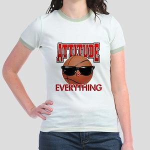Attitude is Everything Jr. Ringer T-Shirt