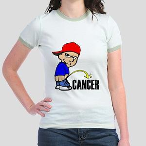 Piss On Cancer -- Cancer Awareness Jr. Ringer T-Sh