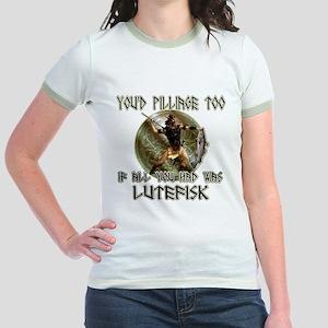 Lutefisk viking humor Jr. Ringer T-Shirt