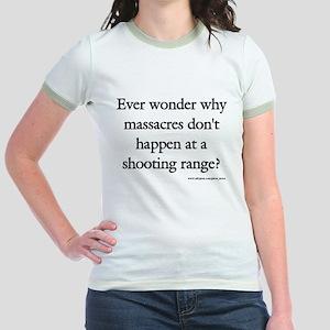 Guns & Massacres Jr. Ringer T-Shirt