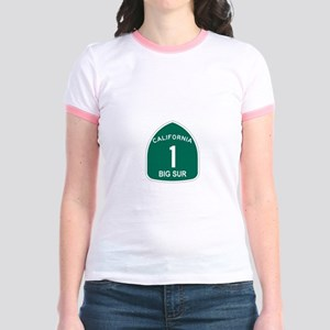 Big Sur, California Highway 1 Jr. Ringer T-Shirt