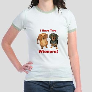 Two Wieners Jr. Ringer T-Shirt