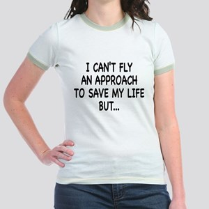 Cant Fly on front, FMC on bac Jr. Ringer T-Shirt