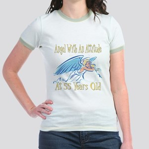 Angel Attitude 55th Jr. Ringer T-Shirt