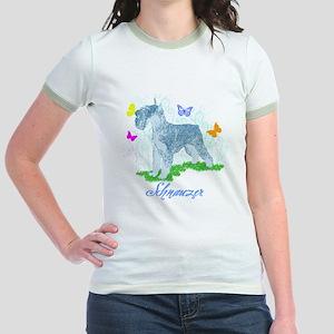 Schnauzer Butterflies Jr. Ringer T-Shirt