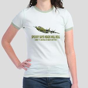 C-130 Spooky Gunship Jr. Ringer T-Shirt