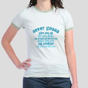 Never Gonna Give You Up! Jr. Ringer T-Shirt