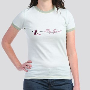 Fly Fishing Girl Jr. Ringer T-Shirt