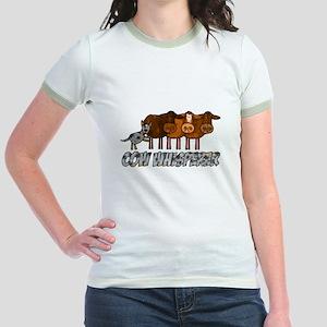 cow whisperer blue heeler Jr. Ringer T-Shirt