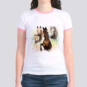 Celestial Horses Jr. Ringer T-Shirt