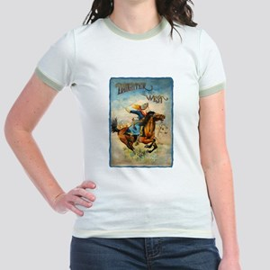 Vintage Cowgirl Roping Jr. Ringer T-Shirt