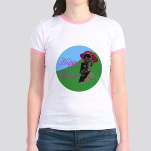 Happy Easter Island Jr. Ringer T-Shirt