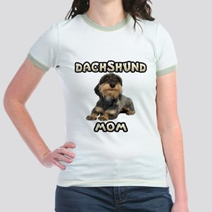 Wirehaired Dachshund Mom Jr. Ringer T-Shirt