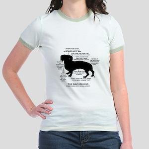 Dachshund Chart Jr. Ringer T-Shirt