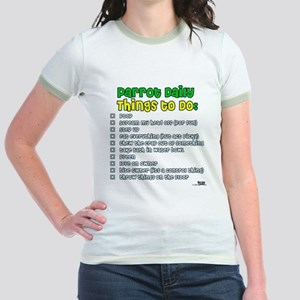 Parrot Things to Do List Jr. Ringer T-Shirt