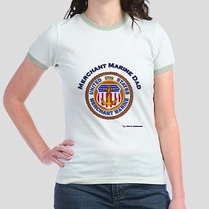 Merchant Marine Dad Jr. Ringer T-Shirt