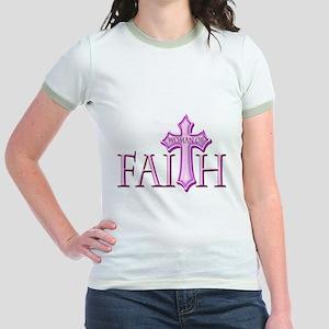 Woman of Faith Jr. Ringer T-Shirt