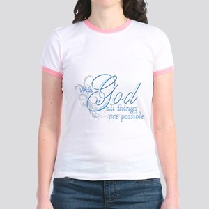 With God All Things are Possi Jr. Ringer T-Shirt