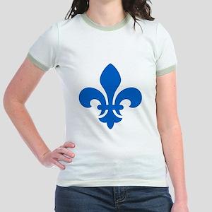 Blue Fleur-de-Lys Jr. Ringer T-Shirt