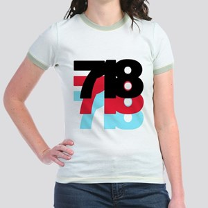 718 Area Code Jr. Ringer T-Shirt