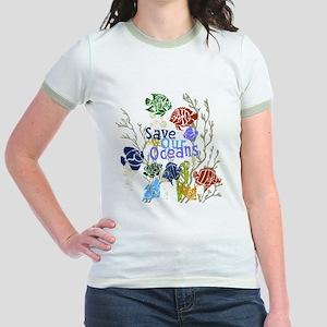 Save the Oceans Jr. Ringer T-Shirt