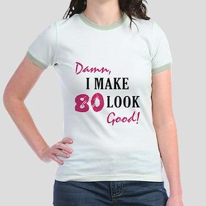 Hot 80th Birthday Jr. Ringer T-Shirt