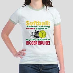 Girls Softball Jr. Ringer T-Shirt